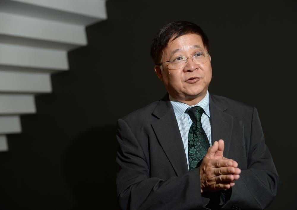 陳章明表示,在個人立場上覺得周浩鼎的言論是有問題。資料圖片