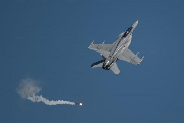 美軍一架F/A-18E超級大黃蜂戰機擊落敘利亞政府軍戰機。資料圖片
