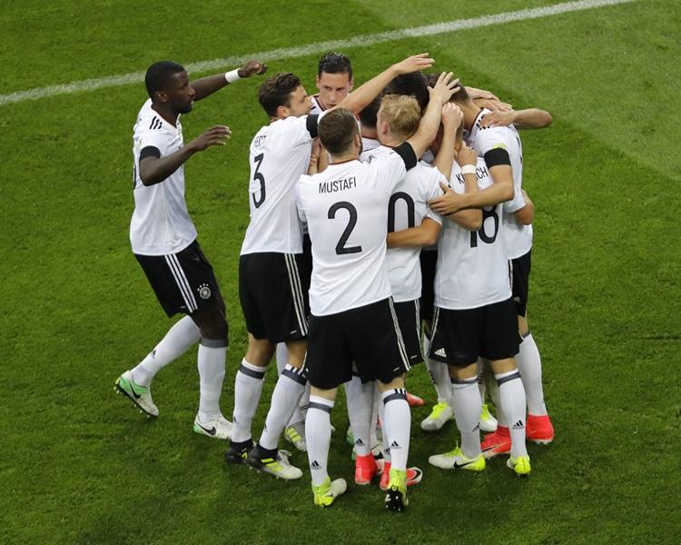 德國3:2險勝澳洲。AP