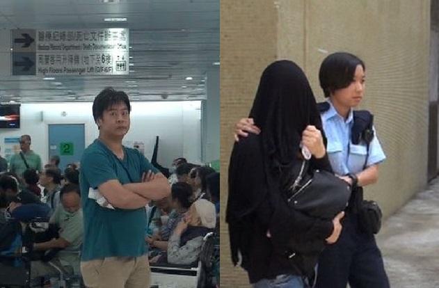 已辦理離婚手續的夫婦,女事主昨晚持刀鎅傷前夫(左圖)胸部,今被警方拘捕。林思明攝