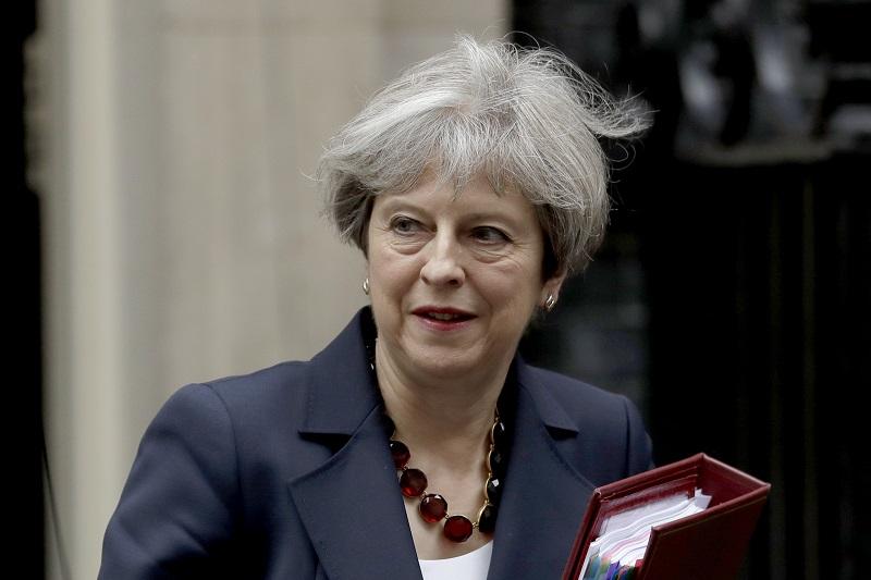 文翠珊缩短在德国柏林的访问行程,赶返伦敦为保守党打气。美联社