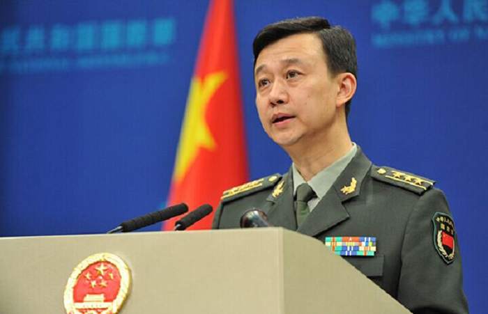 國防部新聞發言人吳謙。新華社圖片