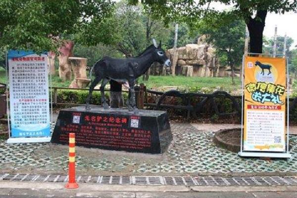 動物園為枉死的驢子立一塊紀念碑。網上圖片