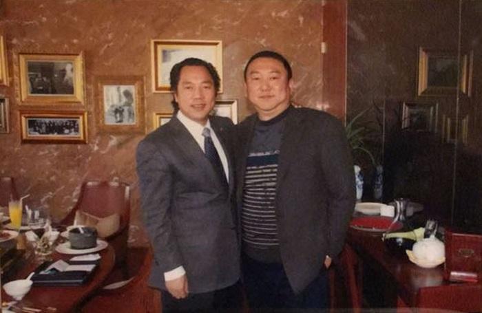 郭文貴與宋軍(右)。
