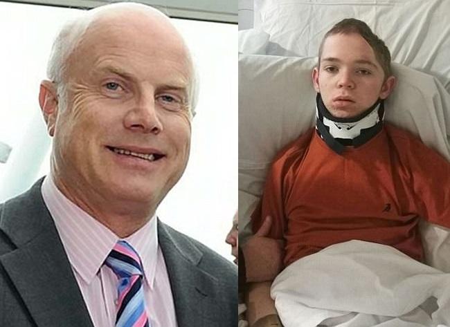 64歲商人芬恩(左圖)去年10月駕車往伯明翰途中,撞到16歲少年羅伯茨。