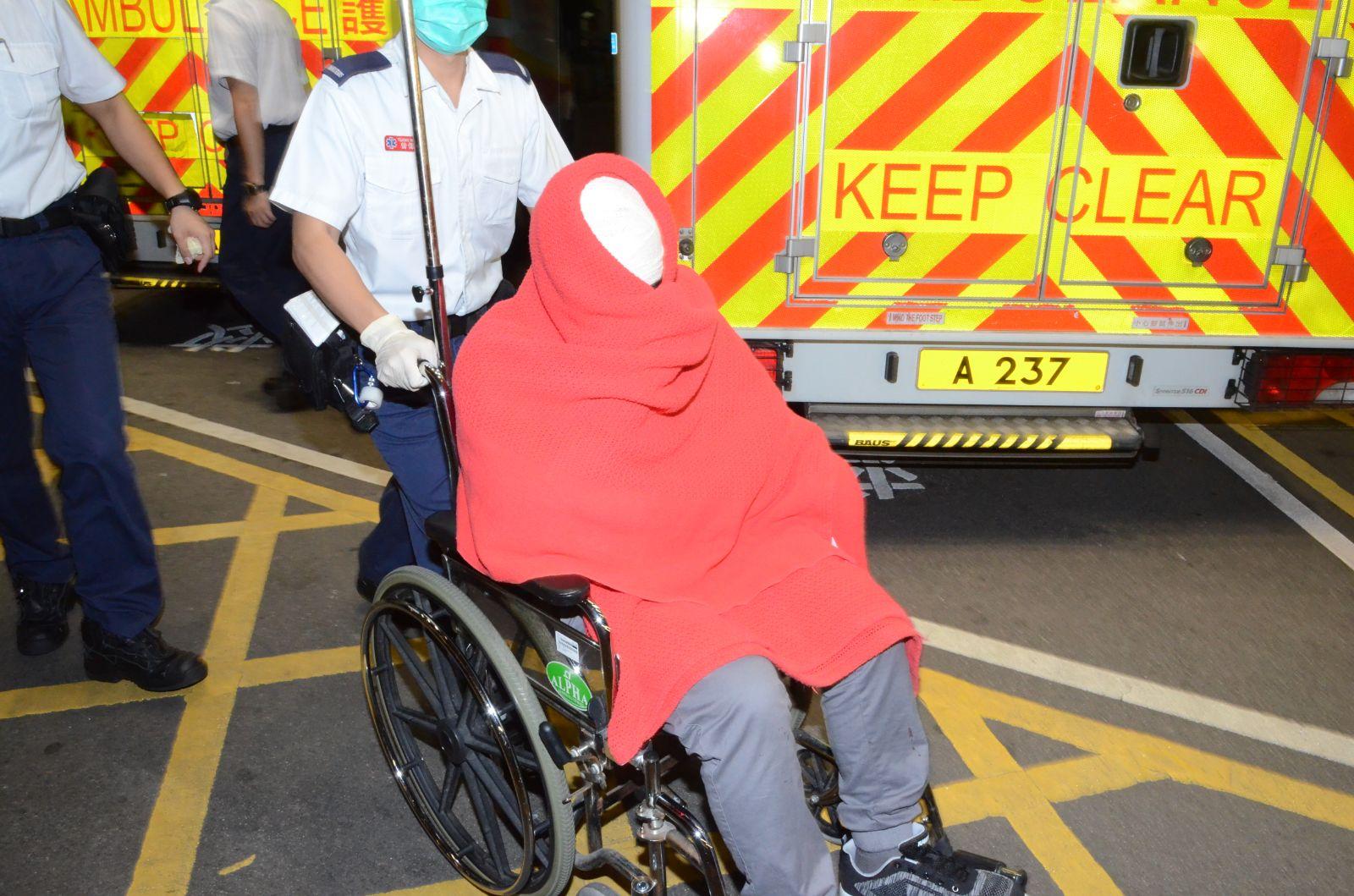 男事主受傷送院。李子平攝
