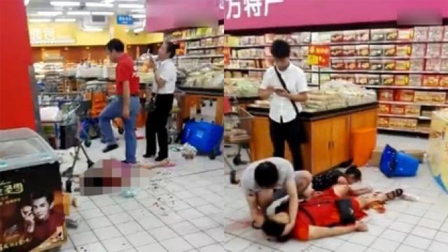 超市內一片混亂。網上圖片