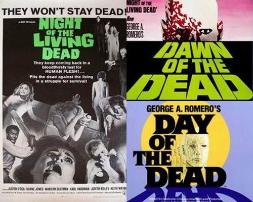 《活死人之夜》、《生人勿近》、《喪屍出籠》是經典的喪屍三部曲。