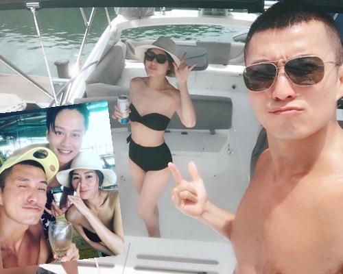 胡定欣去完日本玩,返到香港即搵好友出海尋樂。