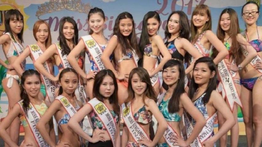 「新加坡小姐選美賽」十六強入圍佳麗的照片。網圖