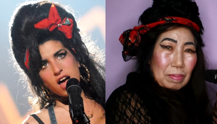 朴婆婆在YouTube分享已故女歌手Amy Winehouse的化妝教學。