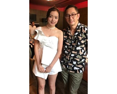 李思欣夥拍吳啟華拍戲。