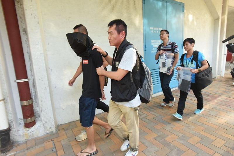 警方今在馬鞍山恆安邨(圖)、葵涌及深水埗拘捕5人,涉嫌詐騙。