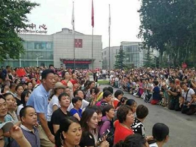 善心匯會員於北京請願。資料圖片