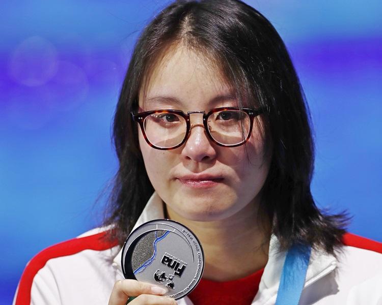 傅園慧50米背泳奪銀。新華社圖片