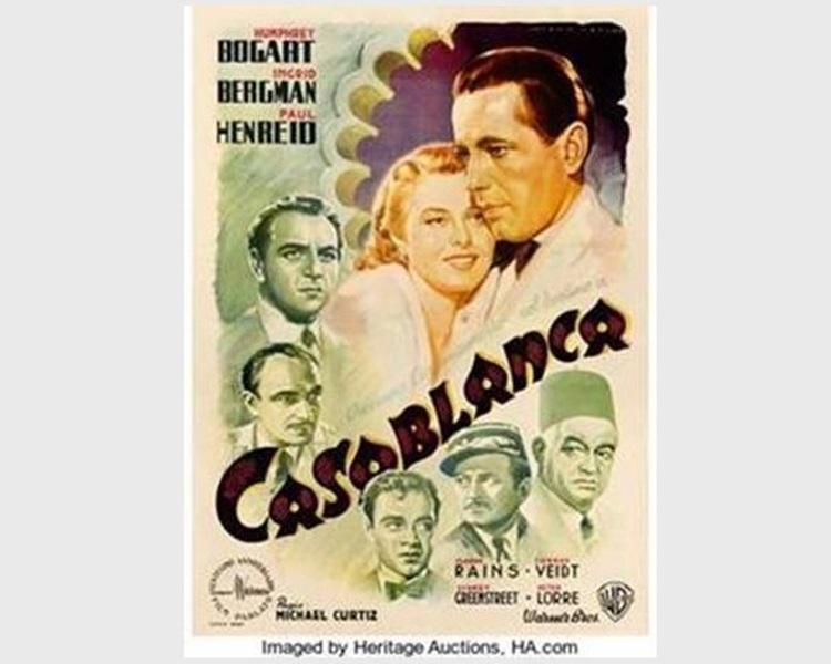 《北非谍影》意大利版海报。