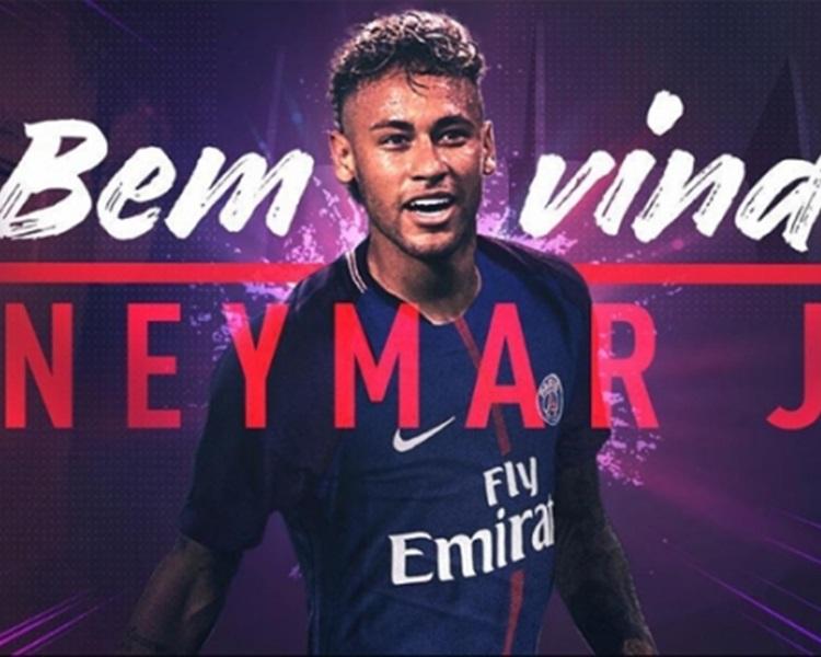 尼馬破世界紀錄20億港元投巴黎,將身穿10號球衣。聖日耳門圖片
