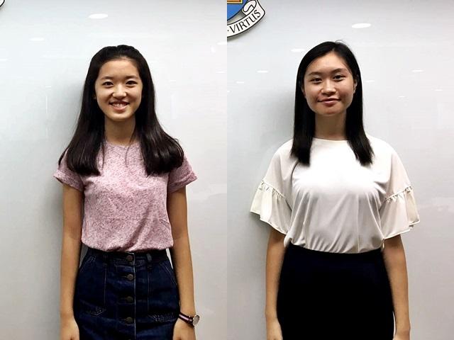施奕昕(左)和鄧惠慈(右)皆認為,醫生這個職業很有意義。