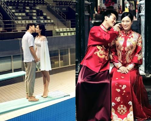 吳敏霞的婚照流露幸福之情。