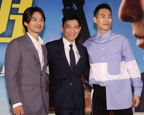 馮德倫、劉德華和楊祐寧在台北宣傳新片。