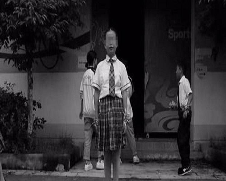 14歲自殺女生孫康崎。網上圖片