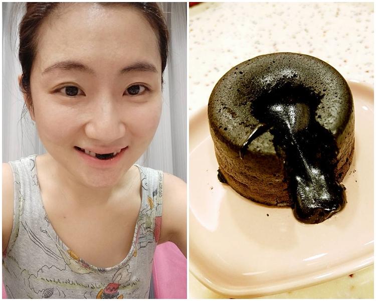 Selina首次自製「心太軟」朱古力流心蛋糕。 任家萱 Selina fb圖片
