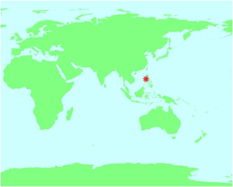 震央位於馬尼拉之西南偏南約63公里。香港天文台圖片