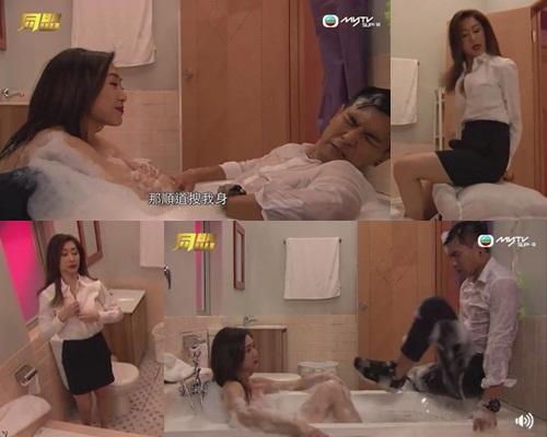 二人在劇中最愛玩浴室動作戲。