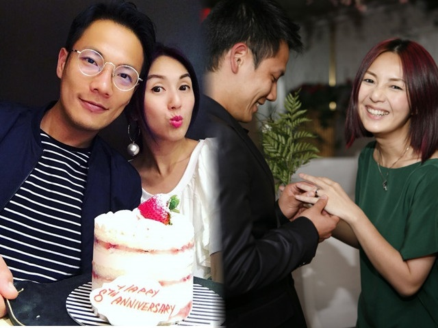 丁子高楊千嬅慶祝結婚8周年,還記得當年被踢爆秘婚有多壯烈。