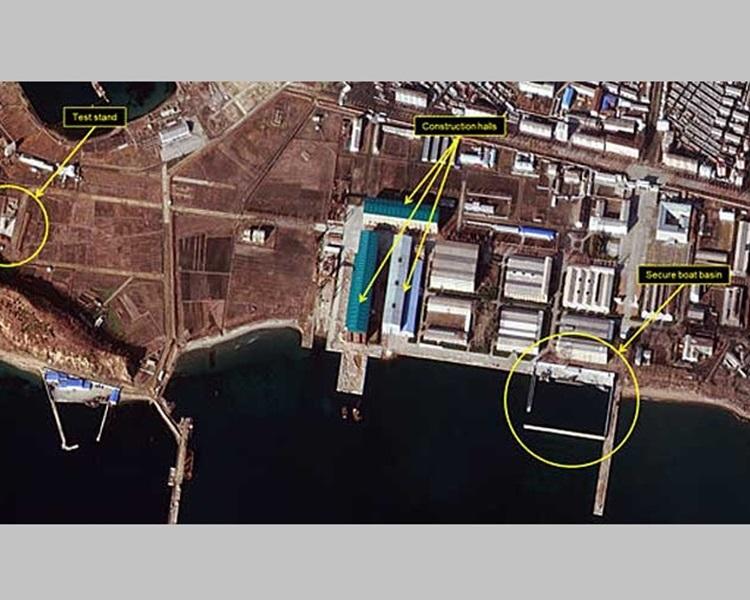 人造衛星照片顯示北韓可能準備進行新一輪導彈試射。
