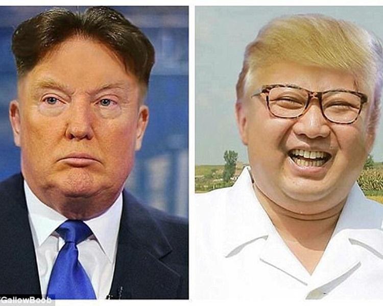 網民發揮創意改圖兩位「狂人」交換髮型令人忍俊不禁!網圖