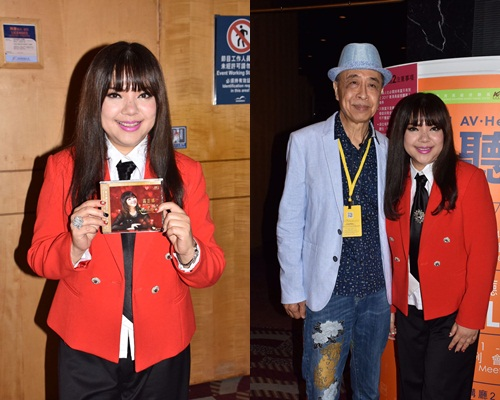 露雲娜同葉振棠在HiFi展宣傳自己的發燒碟。