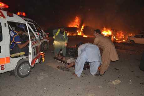 爆炸發生在奎達市內一座巴士站。AP