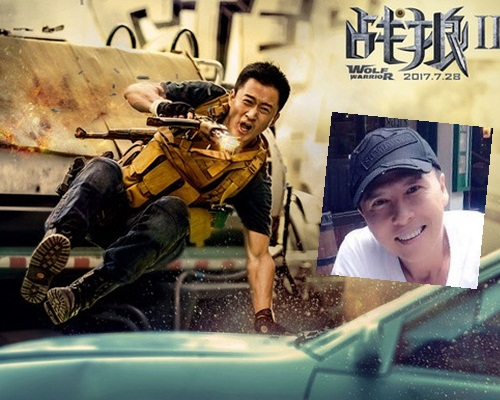 吳京自導自演新片取得上佳成績,卻被翻不實傳聞,甄子丹躺著中槍。