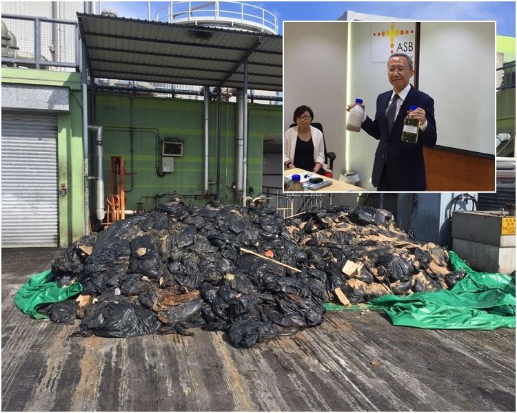 政府部門及環保團體在沙灘收集到約一百噸硬脂。