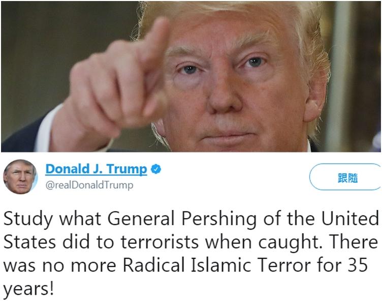 特朗普在Twitter上留言。