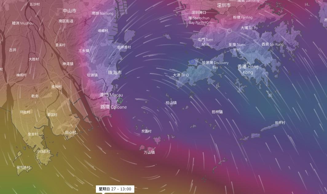 歐洲預測風暴登陸澳門。網上圖片