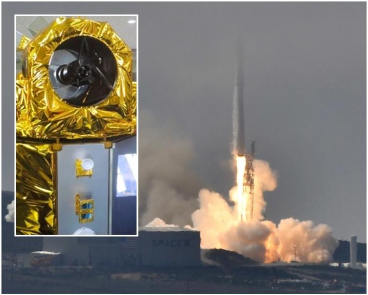 台首枚自主研製衛星 「福衛五號」美國順利升空