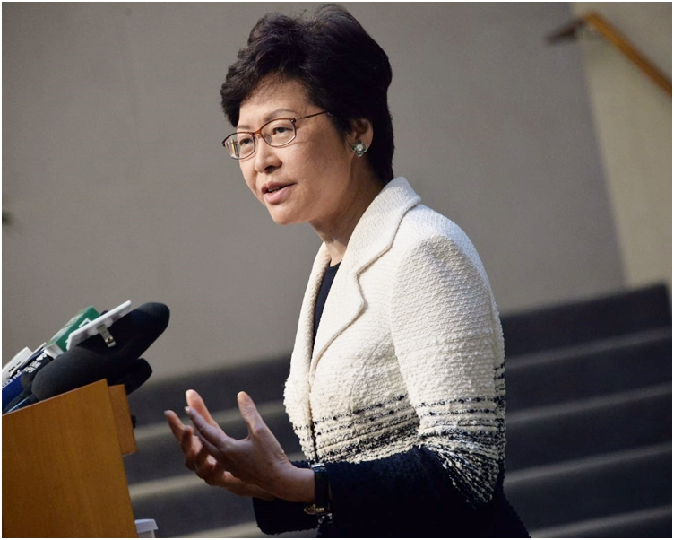 林鄭月娥強調香港有獨立的司法制度。