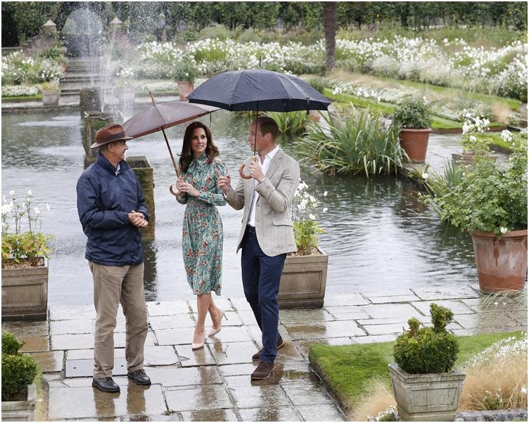 威廉、哈里和凯特,「白色花园」悼念到戴安娜。