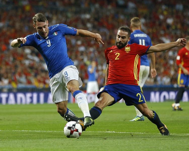 西班牙主場3球淨勝意大利。AP