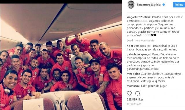維達爾暗示世盃後退出國家隊。網上圖片