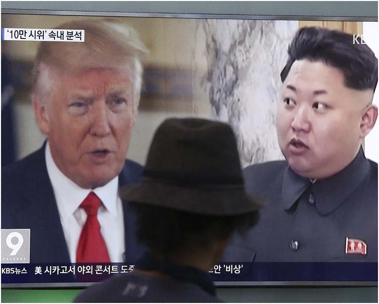北韓指,美國作為一頭嗜血野獸的本性表露無遺,瘋狂夢想要扭轉北韓發展核子力量的計畫。AP