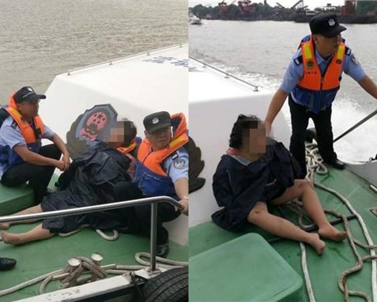 女子被救起時面色蒼白,處於半昏迷狀態。網上圖片