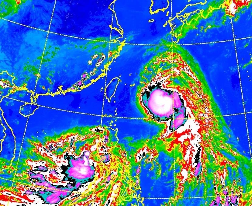 颱風泰利有增強的趨勢。
