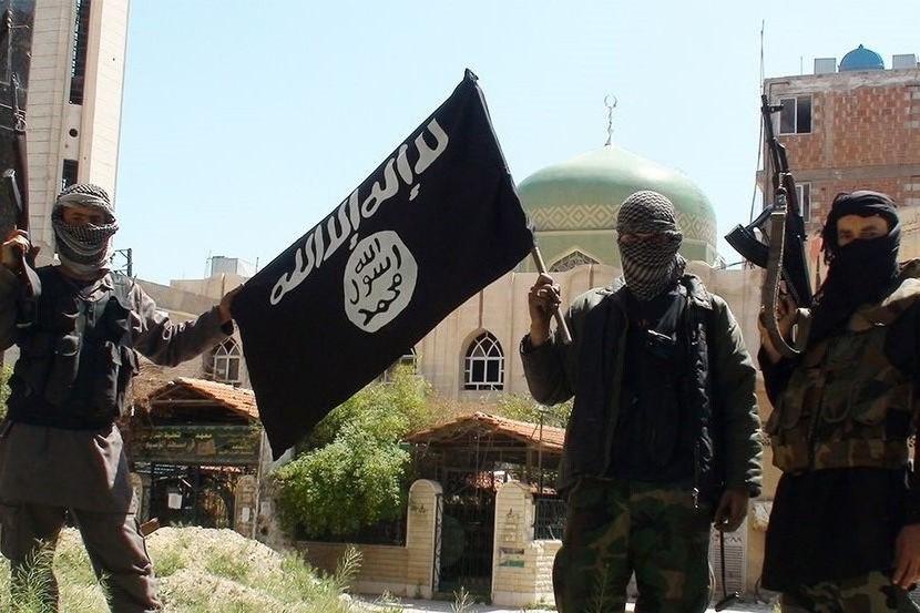 伊斯蘭國恐怖分子。AP圖片