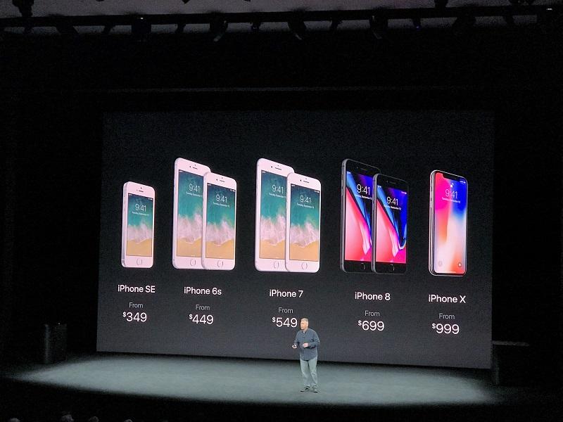 iPhoneX本港售價由8,588元起。