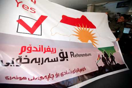 伊拉克國會今天表決封殺庫爾德族領袖舉行獨立公投的計畫。
