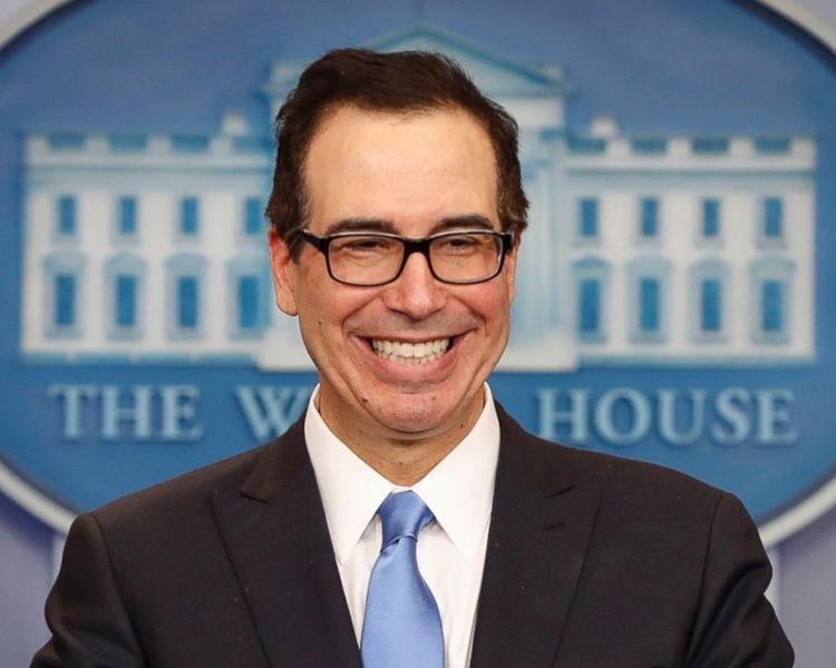 美國財政部長姆努欽。