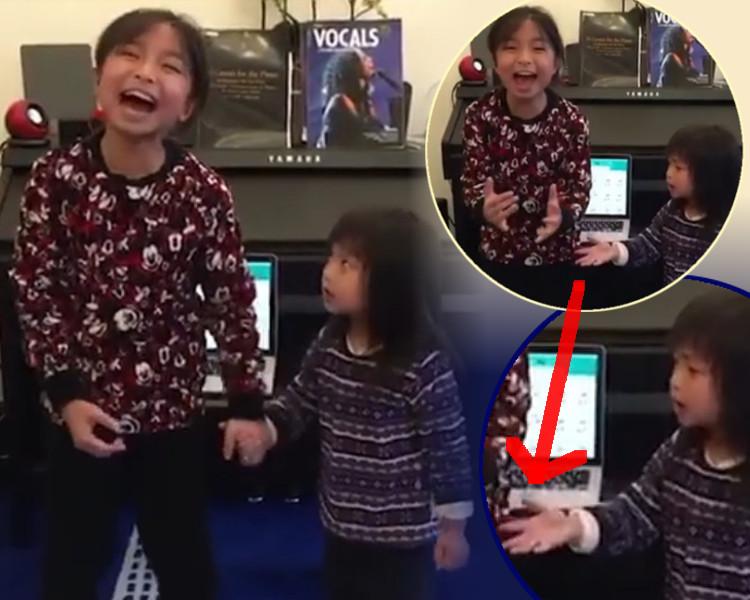 妹妹被家姐手握到好緊,突然甩開。譚芷昀(Celine)facebook